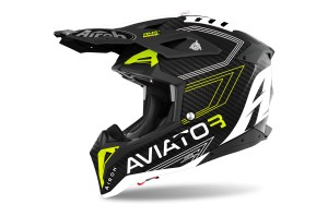 KASK AIROH AVIATOR 3 PRIMAL CARBON 3K YELLOW MATT